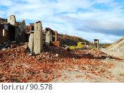 Купить «Руины постройки из красного кирпича», фото № 90578, снято 27 сентября 2007 г. (c) Валерий Александрович / Фотобанк Лори