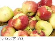 Купить «Яблоки   Ripe apple», фото № 91822, снято 26 мая 2018 г. (c) Угоренков Александр / Фотобанк Лори