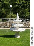 Купить «Декоративная скульптура в парке», фото № 92138, снято 19 сентября 2018 г. (c) SummeRain / Фотобанк Лори