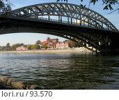 Купить «Новоандреевский (железнодорожный) мост через Москву-реку», фото № 93570, снято 2 октября 2007 г. (c) Григорий Стоякин / Фотобанк Лори