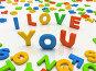 """Разноцветные буквы, сложенные в фразу """" Я тебя люблю"""", иллюстрация № 93846 (c) Hemul / Фотобанк Лори"""