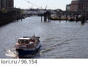 Купить «Прогулочный кораблик на Эльбе в гамбургском порту», фото № 96154, снято 15 апреля 2007 г. (c) Екатерина Соловьева / Фотобанк Лори