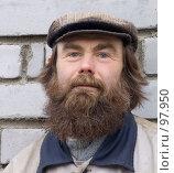 Купить «Бородатый мужик», фото № 97950, снято 14 июня 2007 г. (c) Мирзоянц Андрей / Фотобанк Лори