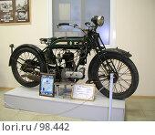 Купить «Мотоцикл БСА-500 (Англия, 1924 г.)», фото № 98442, снято 14 августа 2018 г. (c) TigerFox / Фотобанк Лори