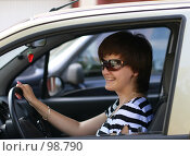 Купить «Девушка в автомобиле», фото № 98790, снято 29 июня 2007 г. (c) Марюнин Юрий / Фотобанк Лори