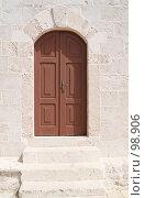 Купить «Старая дверь со ступенями», фото № 98906, снято 30 августа 2007 г. (c) Tamara Kulikova / Фотобанк Лори