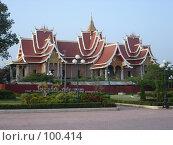 Купить «Лаос, Вьентьян. Буддийский храм», фото № 100414, снято 18 октября 2007 г. (c) Евгений Горюнов / Фотобанк Лори