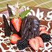 Шоколадный десерт с ягодами, фото № 101158, снято 8 мая 2007 г. (c) Владимир Власов / Фотобанк Лори
