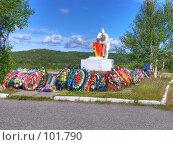 Купить «Памятник воинам-защитникам», фото № 101790, снято 19 марта 2019 г. (c) Мирзоянц Андрей / Фотобанк Лори