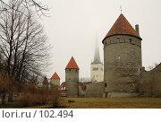 Купить «Таллин. Крепостная стена.», фото № 102494, снято 25 мая 2018 г. (c) Игорь Соколов / Фотобанк Лори
