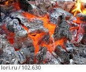Купить «Догорающий костер», фото № 102630, снято 21 февраля 2019 г. (c) Елена Руденко / Фотобанк Лори