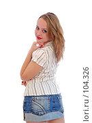 Купить «Прекрасная молодая женщина», фото № 104326, снято 18 августа 2018 г. (c) Валерия Потапова / Фотобанк Лори