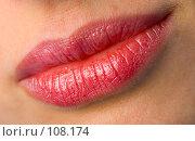 Женские губы. Стоковое фото, фотограф Валентин Мосичев / Фотобанк Лори