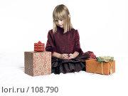 Купить «Девочка с подарками», фото № 108790, снято 3 ноября 2007 г. (c) Лисовская Наталья / Фотобанк Лори