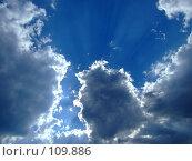 Купить «Небо в облаках», фото № 109886, снято 7 июля 2007 г. (c) Сергей Сухоруков / Фотобанк Лори