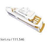Купить «Большая яхта, вид сзади», иллюстрация № 111546 (c) ИЛ / Фотобанк Лори