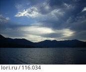 Купить «Вечер над горным озером», фото № 116034, снято 1 сентября 2007 г. (c) Сергей Тундра / Фотобанк Лори