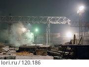 Купить «Открытая площадка завода железобетонных изделий (ЖБИ)», фото № 120186, снято 13 ноября 2007 г. (c) Григорий Погребняк / Фотобанк Лори