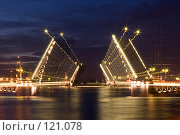 Купить «Ночной мост», фото № 121078, снято 9 июля 2007 г. (c) Сергей Александров / Фотобанк Лори
