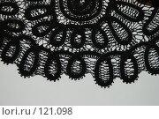 Черное кружево  ручной работы. Стоковое фото, фотограф Елена Бринюк / Фотобанк Лори
