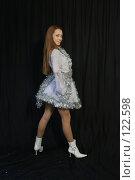 Купить «Девушка в новогоднем костюме», фото № 122598, снято 11 ноября 2007 г. (c) Евгений Батраков / Фотобанк Лори