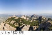 Купить «Испания, гора Монсеррат. Вид со смотровой площадки на вершине», фото № 123998, снято 20 ноября 2018 г. (c) Александр Соболев / Фотобанк Лори
