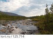 Купить «Небольшое озеро в долине Кунийок в Хибинах», фото № 125714, снято 21 августа 2006 г. (c) Александр Максимов / Фотобанк Лори
