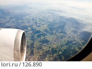 Купить «Взгляд на Альпы из иллюминатора летящего самолета», фото № 126890, снято 15 октября 2005 г. (c) Павел Гаврилов / Фотобанк Лори