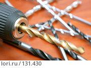 Купить «Электрическая дрель и сверла», фото № 131430, снято 28 ноября 2007 г. (c) Александр Паррус / Фотобанк Лори
