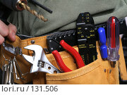 Купить «Монтажный пояс с инструментами», фото № 131506, снято 28 ноября 2007 г. (c) Александр Паррус / Фотобанк Лори