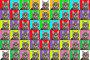 Разноцветное панно (фон) из  изображений кошки, фото № 131670, снято 24 мая 2017 г. (c) Круглов Олег / Фотобанк Лори