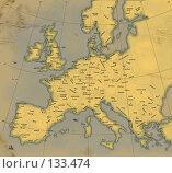Купить «Современная карта Европы, стилизованная под карту 18 столетия», иллюстрация № 133474 (c) Олеся Сарычева / Фотобанк Лори