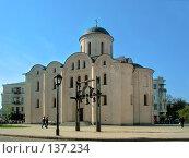 Купить «Древняя церковь Пирогоща на Подоле, Киев, Украина», фото № 137234, снято 22 марта 2019 г. (c) Fro / Фотобанк Лори