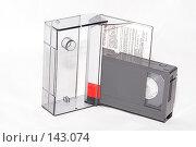 Купить «Аналоговая видеокассета формата VHS-C», фото № 143074, снято 4 декабря 2007 г. (c) Сергей Бочаров / Фотобанк Лори