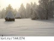 Стога сена зимой. Стоковое фото, фотограф Герман Филатов / Фотобанк Лори