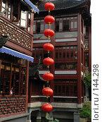 Купить «Красные китайские фонарики», фото № 144298, снято 19 сентября 2018 г. (c) Вера Тропынина / Фотобанк Лори