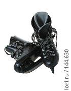 Купить «Хоккейные коньки. Изолировано на белом фоне.», фото № 144630, снято 30 октября 2007 г. (c) Сергей Лаврентьев / Фотобанк Лори