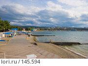 Купить «Геленджик - пляж, бухта и вид на город», фото № 145594, снято 15 октября 2007 г. (c) Иван Сазыкин / Фотобанк Лори