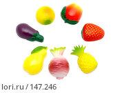 Купить «Набор магнитов Фрукты и овощи», фото № 147246, снято 12 декабря 2007 г. (c) Угоренков Александр / Фотобанк Лори