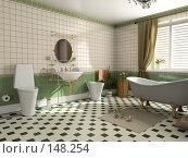 Купить «Интерьер ванной», иллюстрация № 148254 (c) Виктор Застольский / Фотобанк Лори