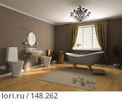 Купить «Ванная комната», фото № 148262, снято 21 февраля 2019 г. (c) Виктор Застольский / Фотобанк Лори