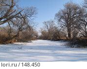 Купить «Заснеженное озеро», фото № 148450, снято 14 декабря 2007 г. (c) Олег Рубик / Фотобанк Лори