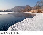 Купить «Зимнее утро, берег Уссури», фото № 148462, снято 14 декабря 2007 г. (c) Олег Рубик / Фотобанк Лори