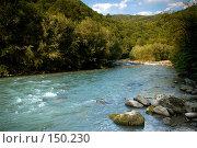 Купить «Река Мзымта. Красная Поляна», фото № 150230, снято 13 августа 2007 г. (c) Петухов Геннадий / Фотобанк Лори