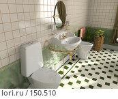 Купить «Интерьер ванной», фото № 150510, снято 21 февраля 2019 г. (c) Виктор Застольский / Фотобанк Лори