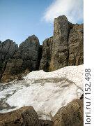 Купить «Ледник среди скал. Плато Лаго-Наки. Кавказский заповедник», фото № 152498, снято 10 августа 2007 г. (c) Петухов Геннадий / Фотобанк Лори