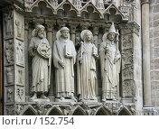 Купить «Скульптурное изображение святых на портале главного входа в Собор Парижской Богоматери, Франция», фото № 152754, снято 22 февраля 2006 г. (c) Harry / Фотобанк Лори
