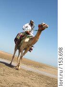 Купить «Корабль пустыни и его капитан», фото № 153698, снято 6 сентября 2007 г. (c) hunta / Фотобанк Лори