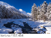 Купить «Зимняя река Баксан в Приэльбрусье», фото № 157454, снято 15 декабря 2007 г. (c) Борис Панасюк / Фотобанк Лори