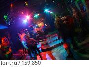 Купить «Ночной клуб - громкая музыка, ритм и вспышки. Движение на танцполе», фото № 159850, снято 4 февраля 2006 г. (c) Harry / Фотобанк Лори